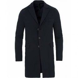 Harris Wharf London Chester Herringbone Coat Navy Blue