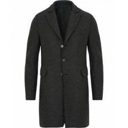 Harris Wharf London Chestercoat Wool Raw Edge Coat Antacite