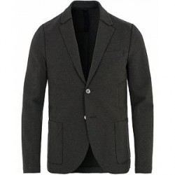 Harris Wharf London Raw Edge Pique Blazer Anthracite
