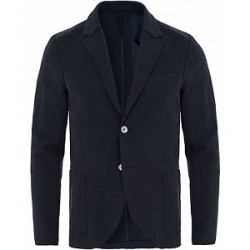Harris Wharf London Raw Edge Pique Blazer Navy Blue