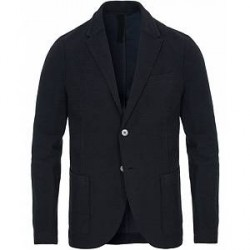 Harris Wharf London Raw Edge Terry Blazer Dark Blue