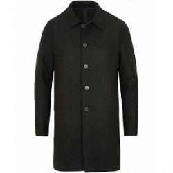 Harris Wharf London Wool Mac Coat Black