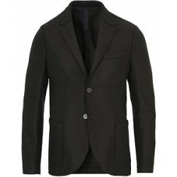 Harris Wharf London Wool Raw Edge Blazer Black