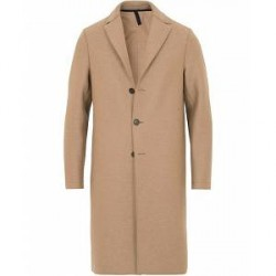 Harris Wharf London Wool Raw Edge Overcoat Camel