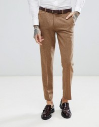Harry Brown Camel Nep Slim Fit Suit Trousers - Tan