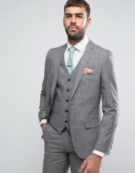 Harry Brown Grey Check Heritage Suit Jacket - Grey