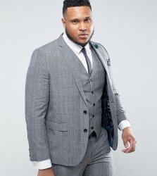 Harry Brown PLUS Check Suit Jacket - Grey