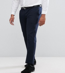 Harry Brown PLUS Plain Black Slim Fit Tuxedo Suit Trousers - Navy