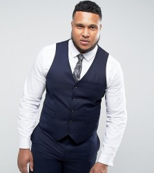 Harry Brown PLUS Plain Waistcoat - Blue