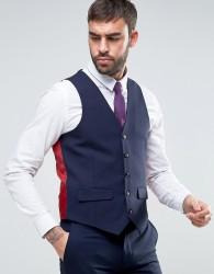 Harry Brown Slim Fit Plain Waistcoat - Navy