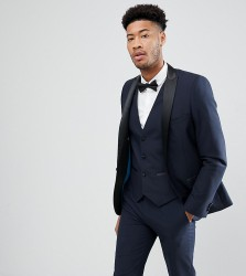 Harry Brown TALL Plain Black Slim Tuxedo Suit Jacket - Navy