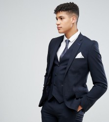Harry Brown TALL Plain Stretch Slim Suit Jacket - Navy