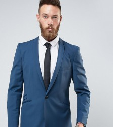 Hart Hollywood Slim Suit Jacket With Notch - Blue