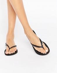 Havaianas Black Slim Flip Flops - Black