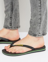 Havaianas Brasil Logo Flip-Flops - Black
