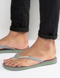 Havaianas Brasil Logo Flip Flops In Grey - Grey