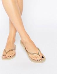 Havaianas Gold Slim Flip Flops - Gold