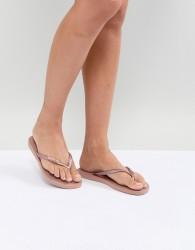 Havaianas Slim Logo Metallic Flip Flops - Gold