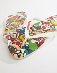 Havaianas Super Mario print flip flops - White