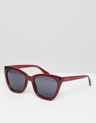 Hawkers Melrose square sunglasses in red - Red