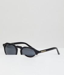 Hawkers Warwick Round Sunglasses In Black - Black