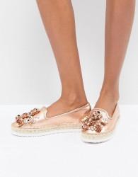 Head Over Heels By Dune Elbie Trim Flatform Espadrilles - Pink