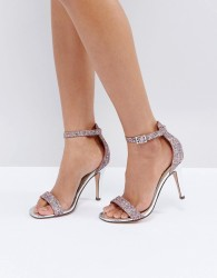 Head Over Heels by Dune Madera Blush Heeled Sandals - Pink