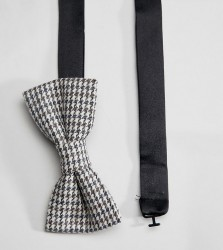 Heart & Dagger Bow Tie In Dogstooth - Stone