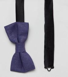 Heart & Dagger bow tie in linen - Blue
