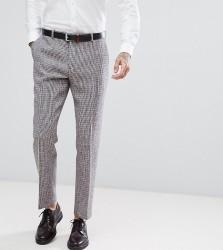 Heart & Dagger Harris Tweed Slim Suit Trousers in Dogstooth - Grey