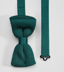 Heart & Dagger knitted slim bow tie - Green