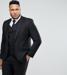 Heart & Dagger PLUS Skinny Suit Jacket - Black