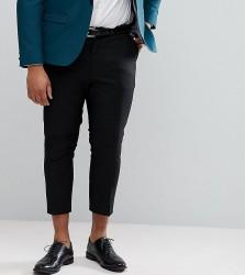 Heart & Dagger PLUS Tapered Cropped Trouser - Black