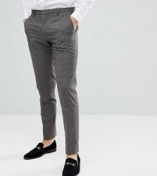 Heart & Dagger Skinny Smart Trouser In Check - Brown