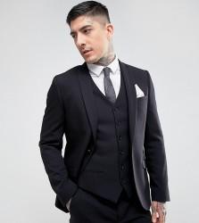 Heart & Dagger Skinny Suit Jacket - Black