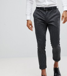 Heart & Dagger Skinny Trouser With Contrast Turn Up - Grey