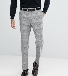 Heart & Dagger Slim Suit Trousers In Prince Of Wales Check - Grey
