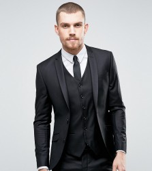 Heart & Dagger Super Skinny Suit Jacket In Black - Black