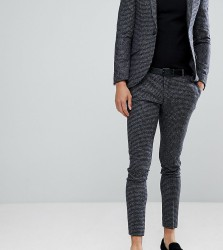 Heart & Dagger Super Skinny Suit Trousers In Dogstooth Fleck - Grey