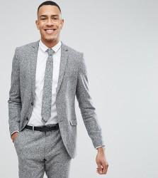 Heart & Dagger TALL Skinny Suit Jacket In Herringbone Tweed - Brown