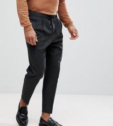 Heart & Dagger Wide Leg Smart Trousers - Grey