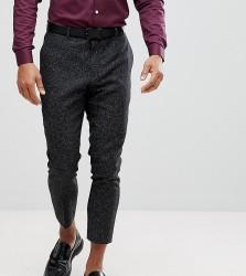 Heart & Dagger Wide Leg Tapered Herringbone Trouser - Grey