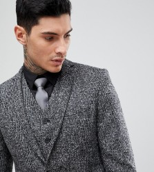 Heart & Dagger Woven In England Skinny Suit Jacket - Grey