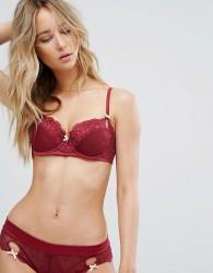 Heidi Klum Intimates Zoe Balconette Bra - Red