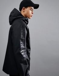 Helly Hansen Ervik Jacket With Sleeve Logo In Black - Black