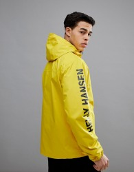 Helly Hansen Ervik Jacket With Sleeve Logo In Yellow - Yellow
