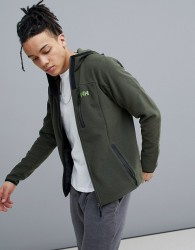 Helly Hansen Vanir Fleece Mid Layer Hooded Jacket In Khaki - Green