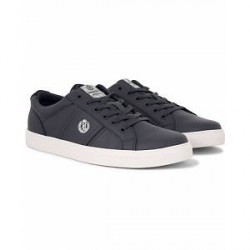 Henri Lloyd Barnes Trainer Leather Sneaker Navy