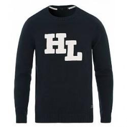 Henri Lloyd Berson Branded Regular Crew Neck Knit Navy