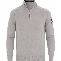 Henri Lloyd Berson Branded Regular Half Zip Knit Grey Melange